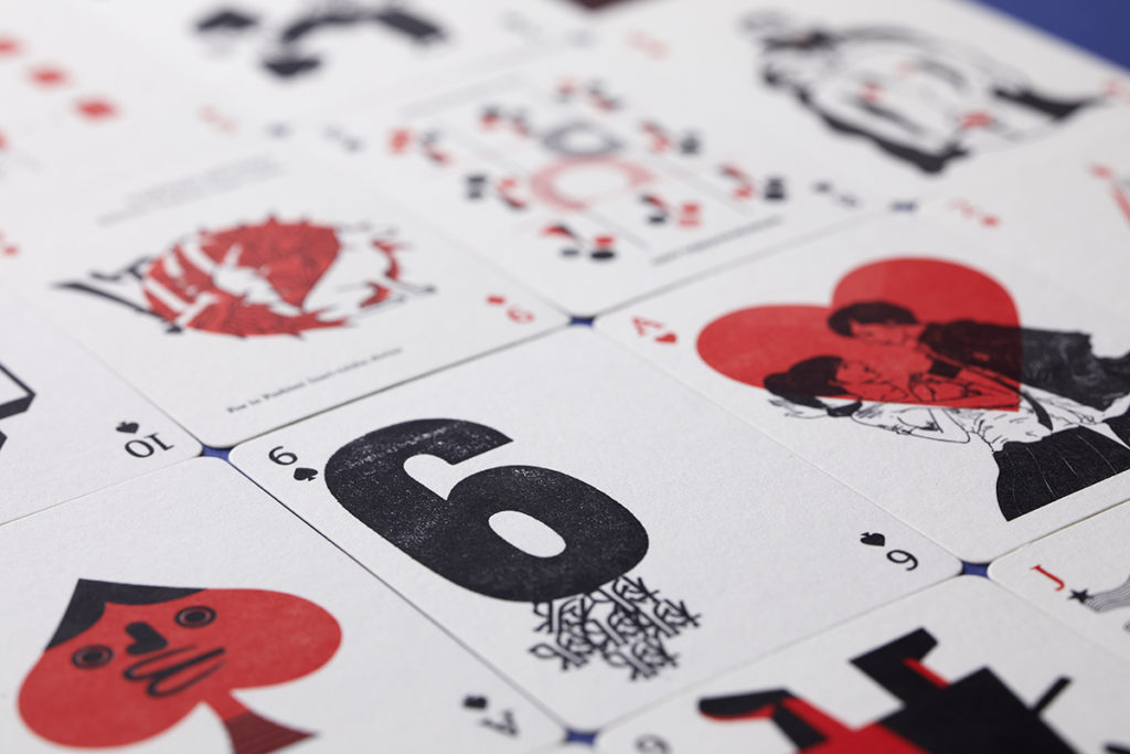 LETTERPRESS PLAYING CARDS BY FIFTY-FOR CREATOR